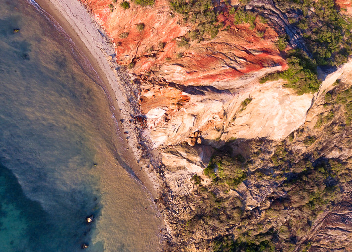 """Over Gay Head Bluffs II"" Aerial Martha's Vineyard Fine Art Moshup Beach Photograph"