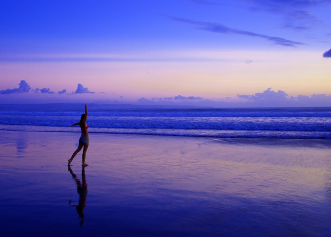 Strike A Pose - Double Six Beach Seminyak Bali Indonesia | Sunset