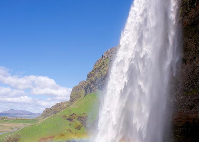 Rainbow Falls - Seljalandsfoss Waterfall Near Reykjavik Iceland   Waterfall