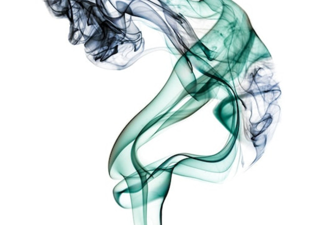 Old Woman Studio Shoot - Smoke Feine Form   Doug Hall   Abstract Art