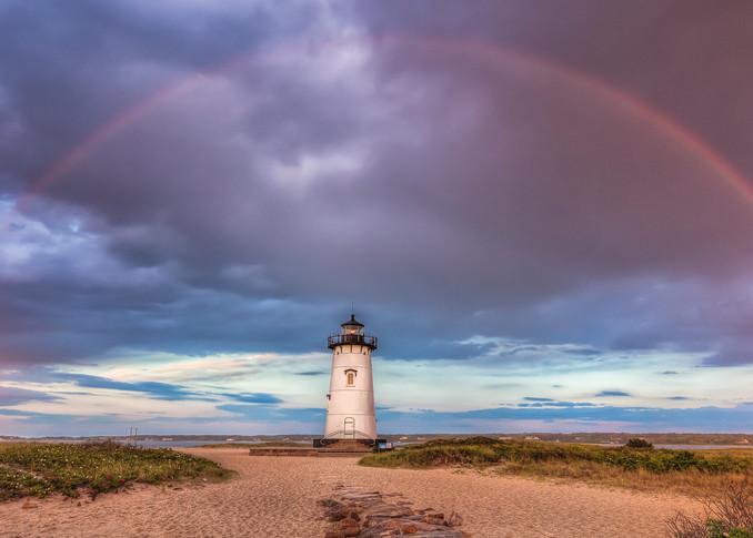 Edgartown Light Rainbow Art | Michael Blanchard Inspirational Photography - Crossroads Gallery