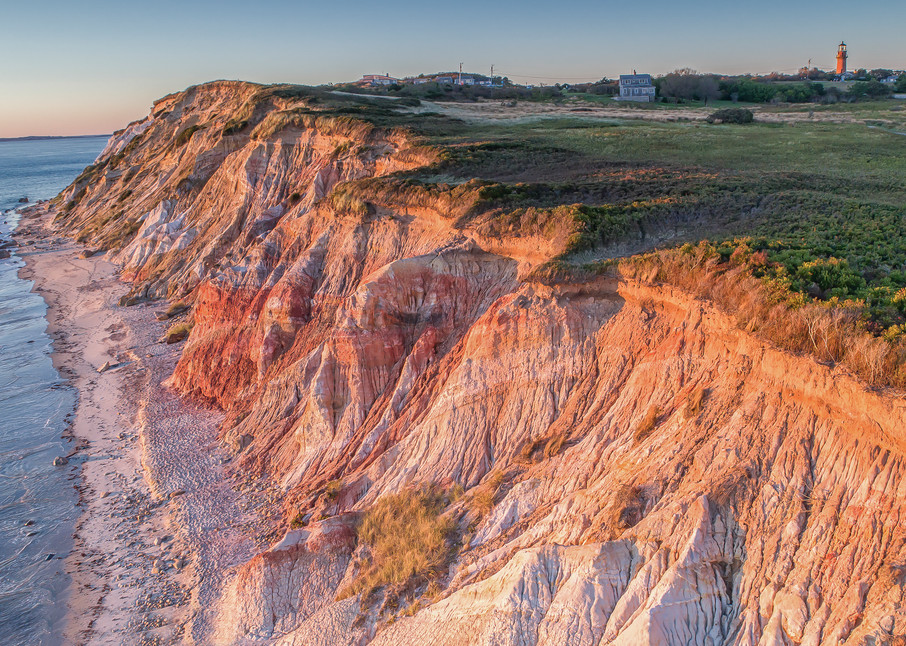 Gay Head Cliffs From Above Art | Michael Blanchard Inspirational Photography - Crossroads Gallery