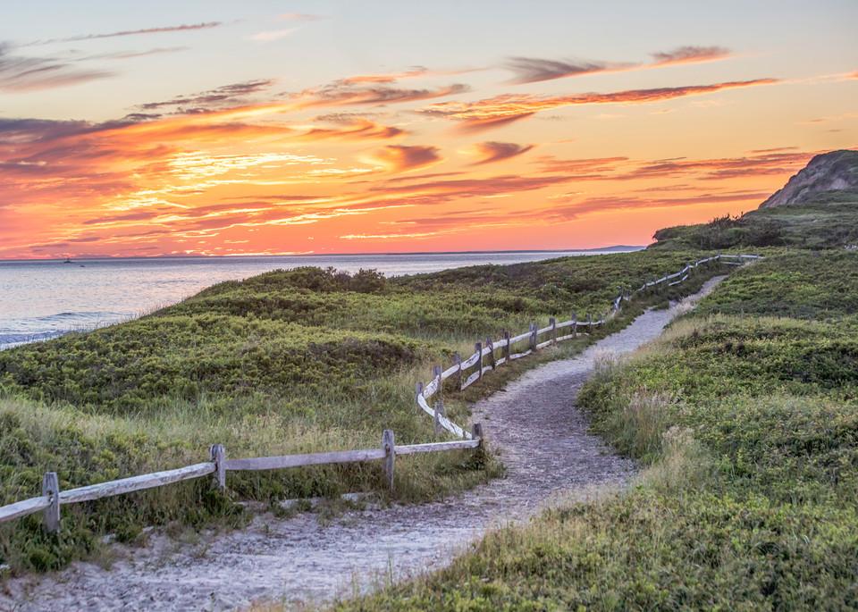 Gay Head Cliffs Path Art | Michael Blanchard Inspirational Photography - Crossroads Gallery