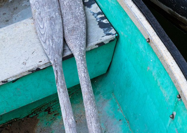 """""""Chatham Rowboat and Oars"""" Fine Art Cape Cod Nautical Wooden Boat Photograph"""