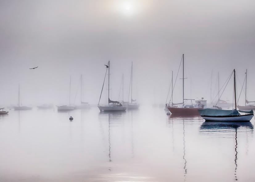Vineyard Haven Harbor Fog Art | Michael Blanchard Inspirational Photography - Crossroads Gallery