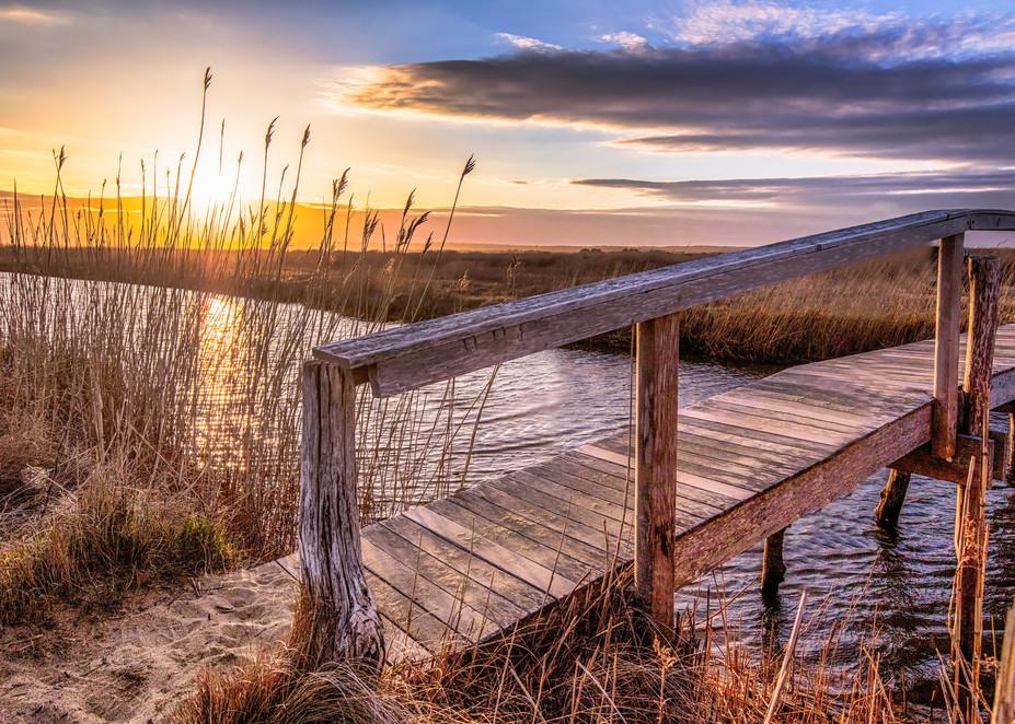 Quansoo Bridge Fall Sunset Art | Michael Blanchard Inspirational Photography - Crossroads Gallery