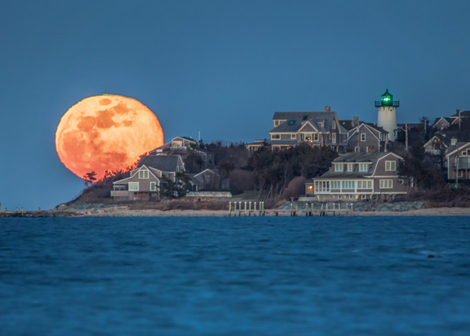 East Chop Blue Moon Rising Art | Michael Blanchard Inspirational Photography - Crossroads Gallery