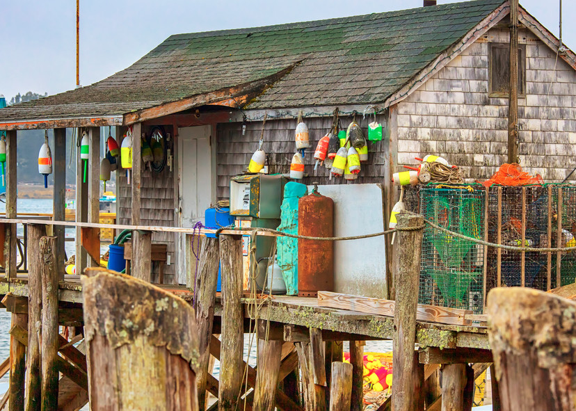 Cape Porpoise Fishing Shack Copy Art   Michael Blanchard Inspirational Photography - Crossroads Gallery