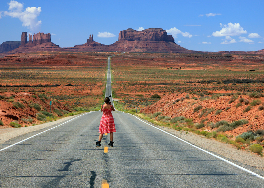 down the road to monument valley