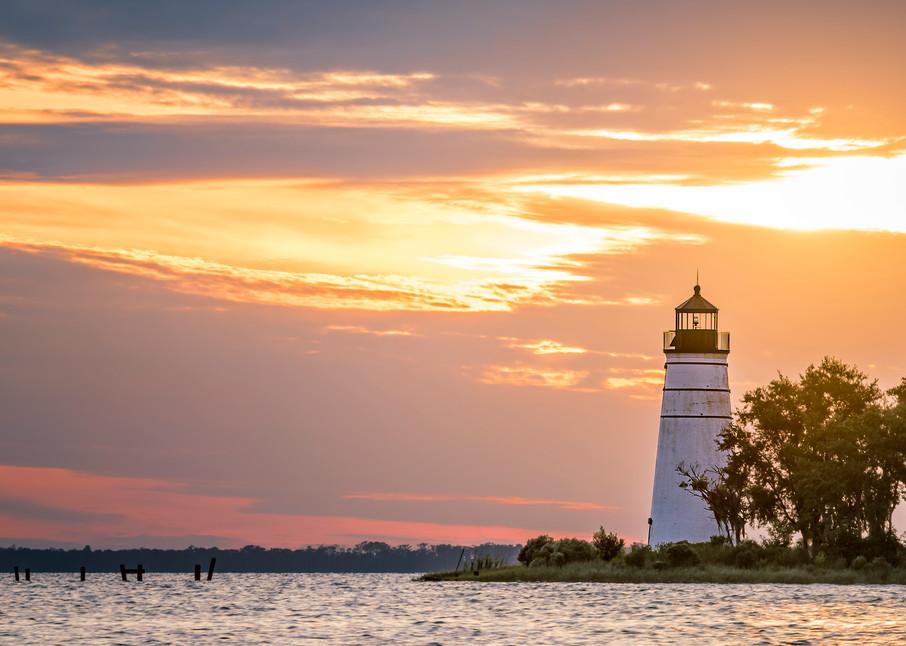 Madisonville Tchefuncte River lighthouse sunset photography