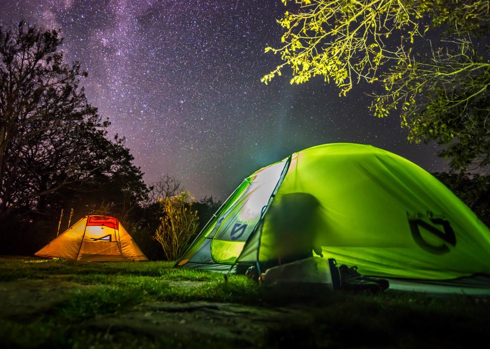 Camping beneath Milky Way