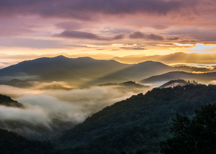 Morning in the Smoky Mountains photography