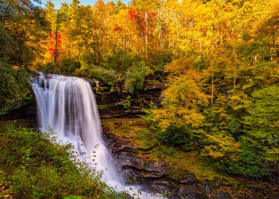 Dry Falls photography - Smoky Mountains waterfall fine-art photography prints