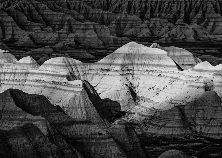 Badlands National Park black and white photography print
