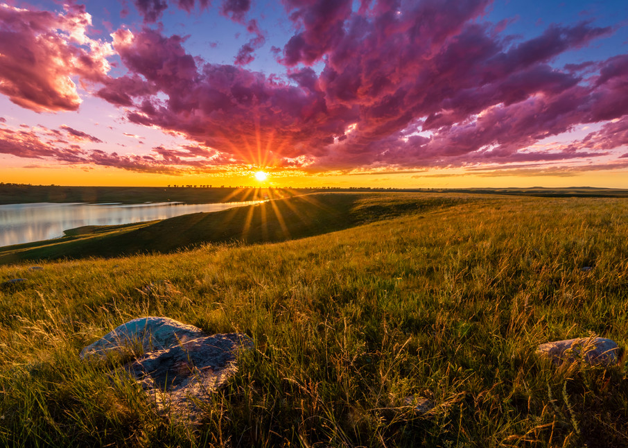 Sunset Over Lake Oahe Photography Art | Andy Crawford Photography - Fine-art photography