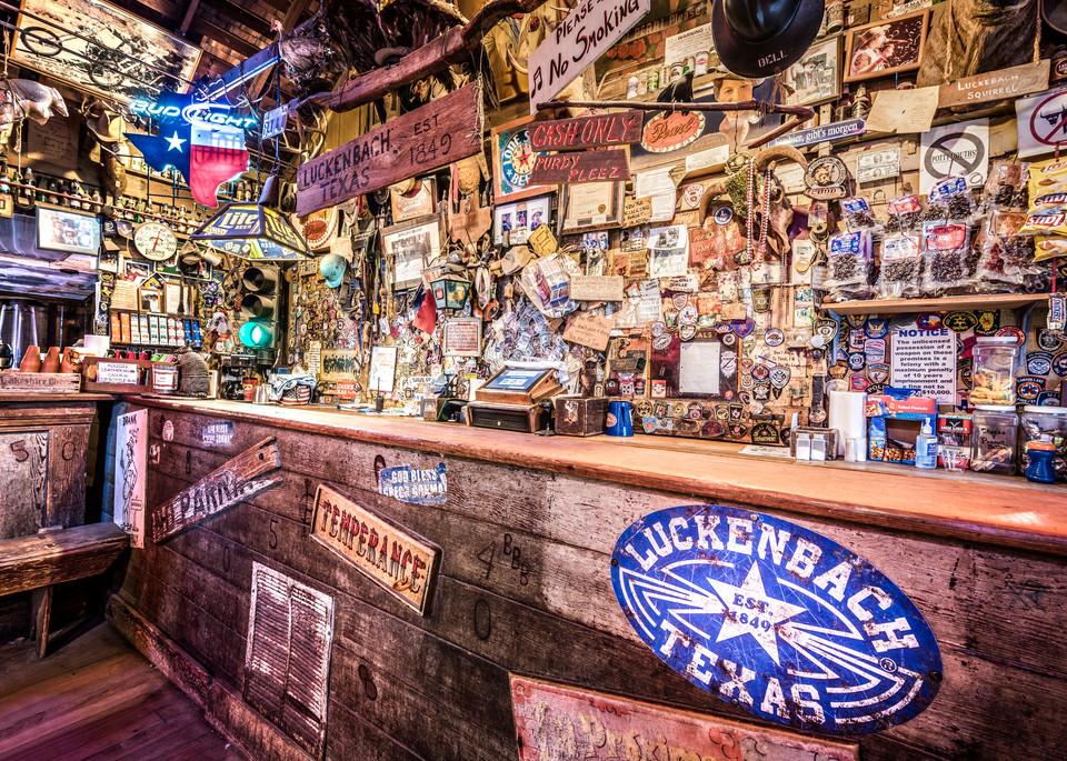 Luckenbach Texas bar photography