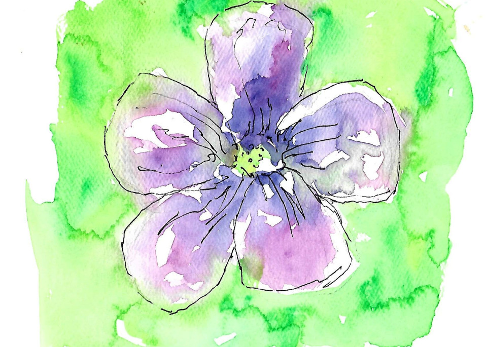 Matt Pierson Artworks   Purple Flower #2