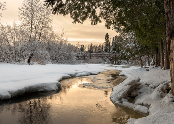 Winter Wonderland in Gooseberry Falls State Park, MN