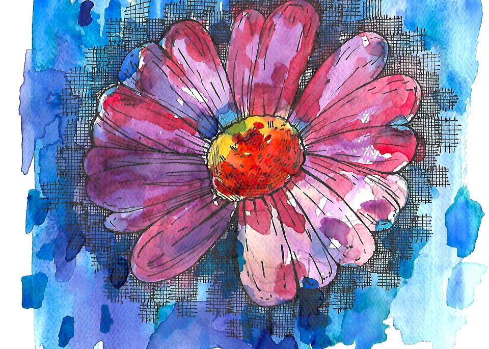 Matt Pierson Artworks   Purple-Red and Orange Flower