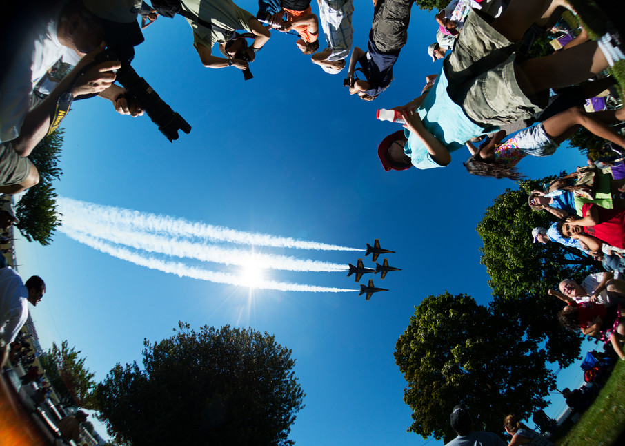 Blue Angels take off moment