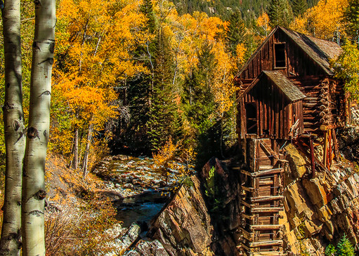 Crystal Mill -The Old Mill Pano Photo Print