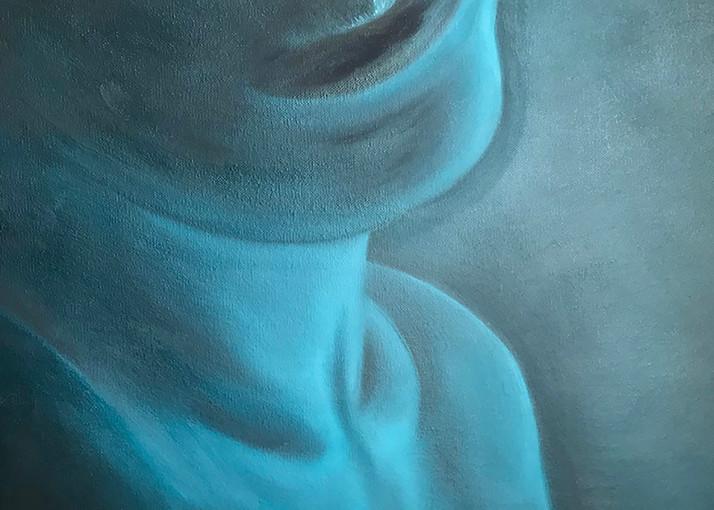 Kissable Aqua Blue Sensual Art