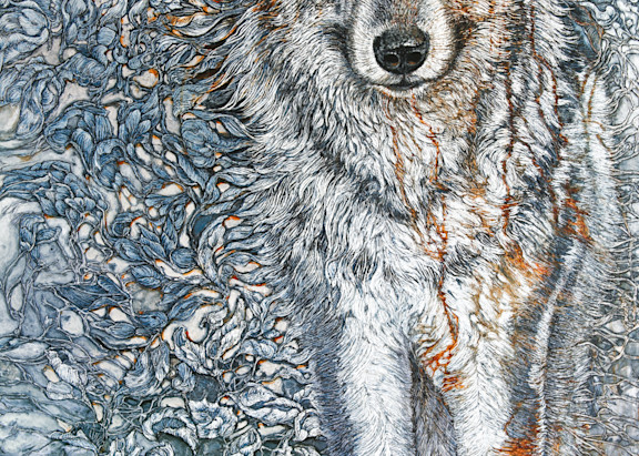 Titan's Companion, Timber Wolf | Col Mitchell Contemporary Paper Artist