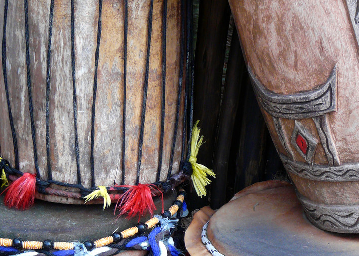 African drums in Walt Disney's Animal Kingdom park.