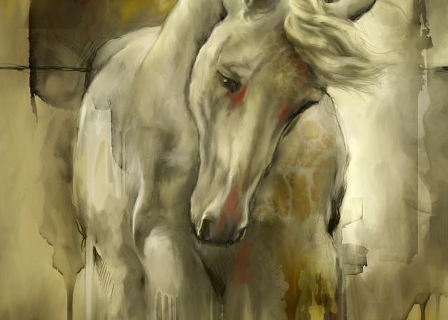 Stunning Mixed Media Arabian Horse