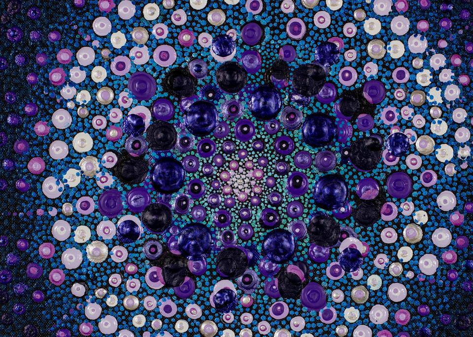 Blue & Purple No. 2 Print