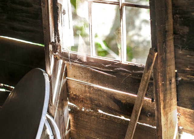Americana photograph: Barn window, by fine art photographer and artist, David Zlotky