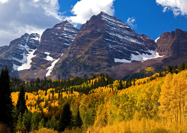 Rockies and Aspens in Fall by JKP