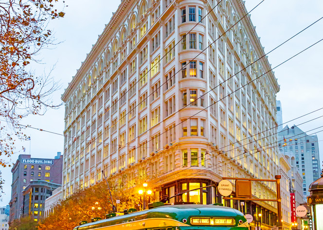 Flatiron Building & Streetcar by Josh Kimball Photography
