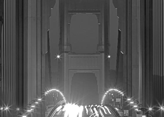 GG Bridge Symmetry (#1) by Josh Kimball Photography