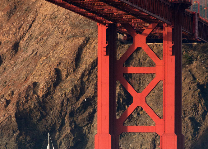 Sailboat & The Bridge by Josh Kimball Photography