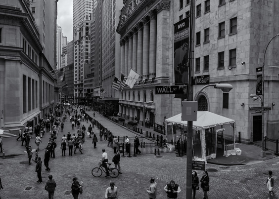 Wall Street Scene Photography Art   Namaste Photography