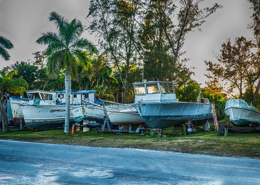 Cortez Boat Yard Retirees Art | Artist David Wilson