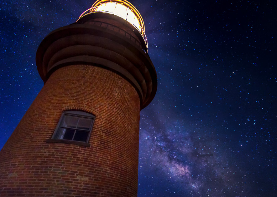 Gay Head Light Milky Way Art | Michael Blanchard Inspirational Photography - Crossroads Gallery