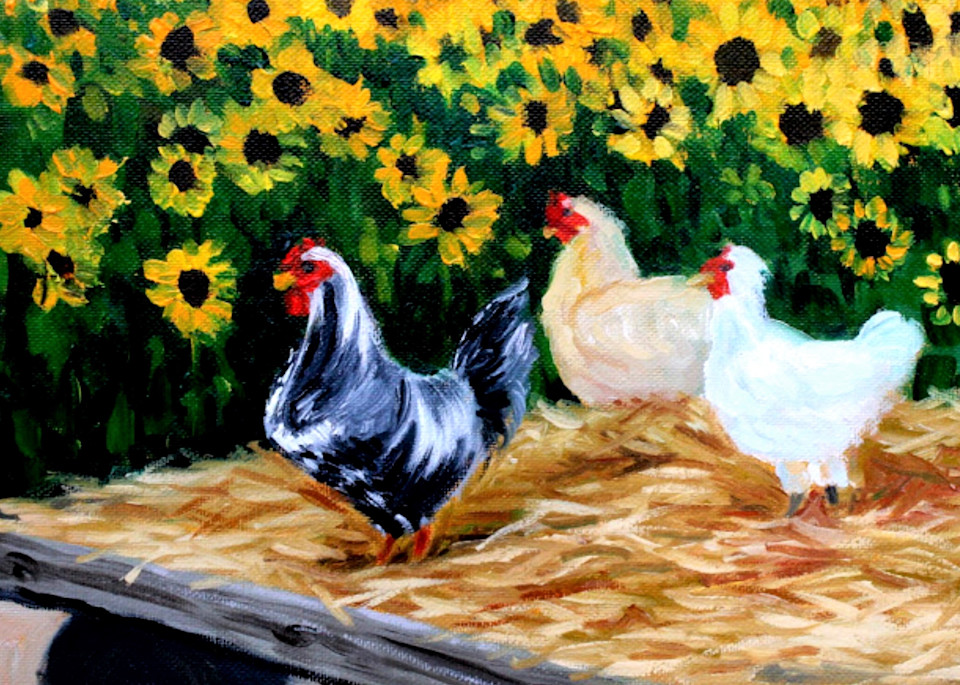 The Chicken Sisters fine art print Hilary J England