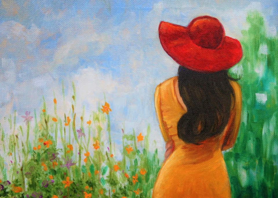 The Red Hat Fine Art Print by Hilary J. England