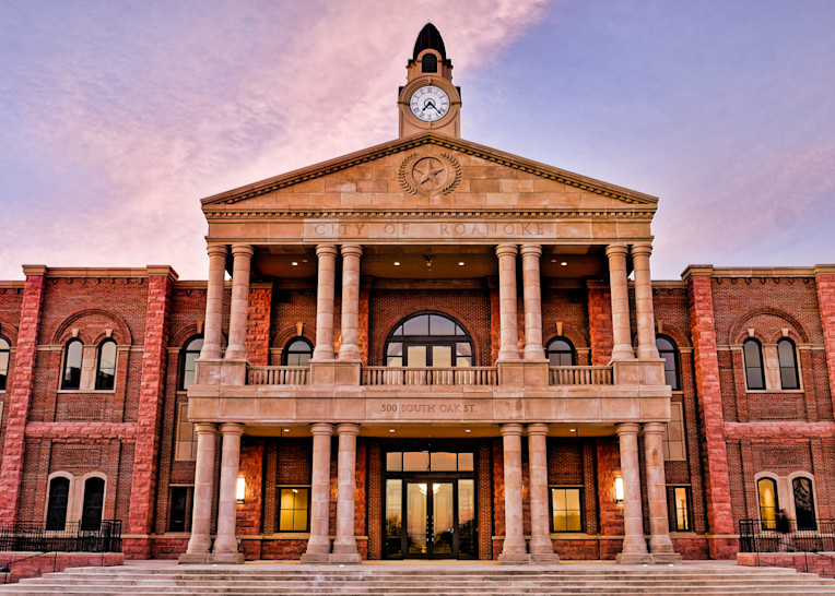 Roanoke Town Hall 19 Detail Photography Art   Drone Video TX