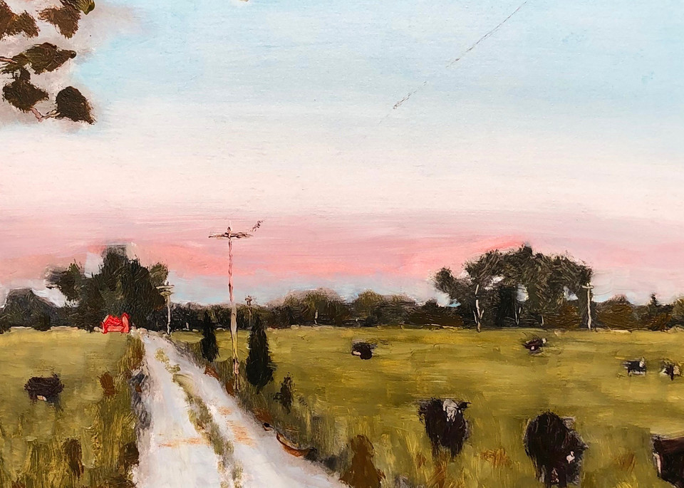 When the Cows Come Home | Fine Art Painting Print by Rick Osborn