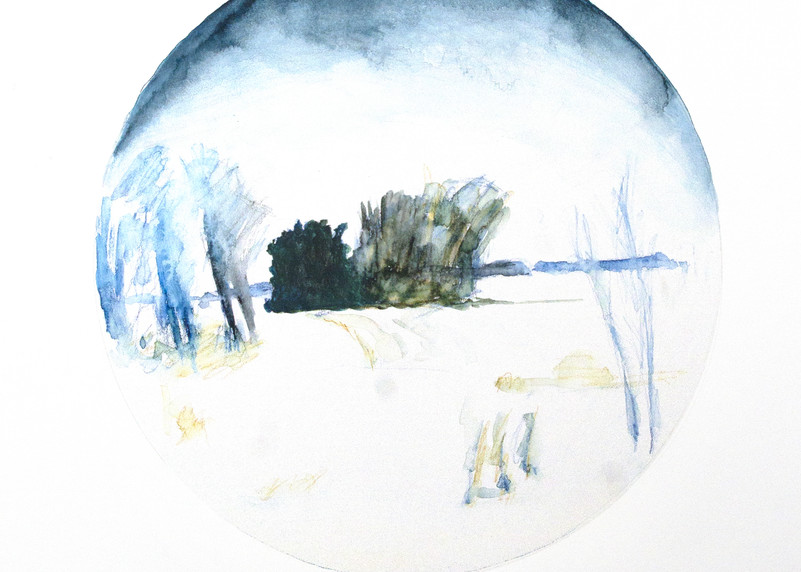 Winter Field Art | FitzgeraldArt