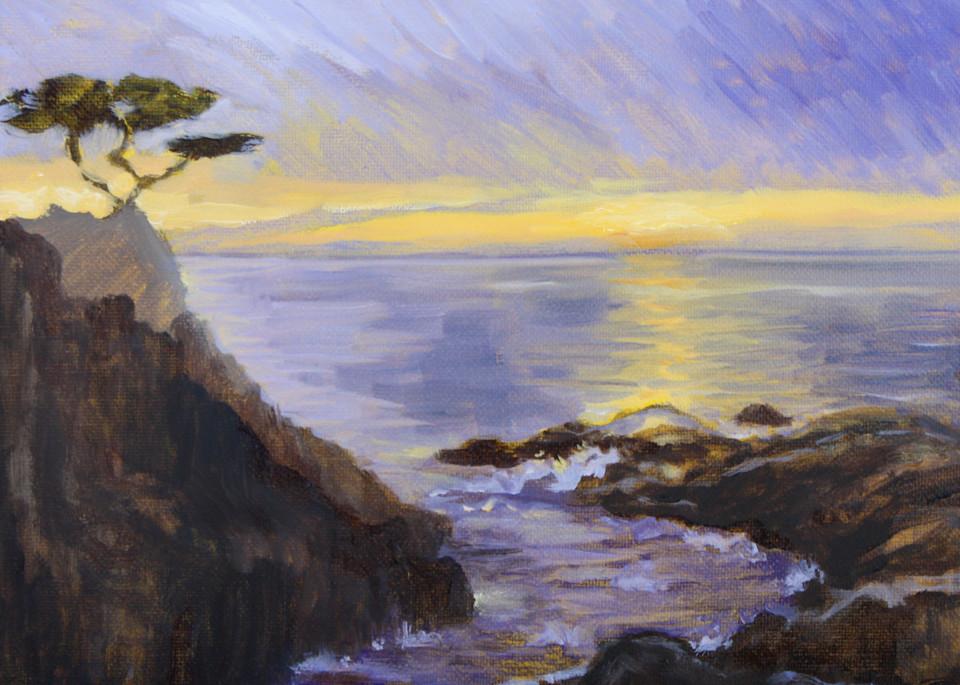 Mediterranean sunset fine art open edition print