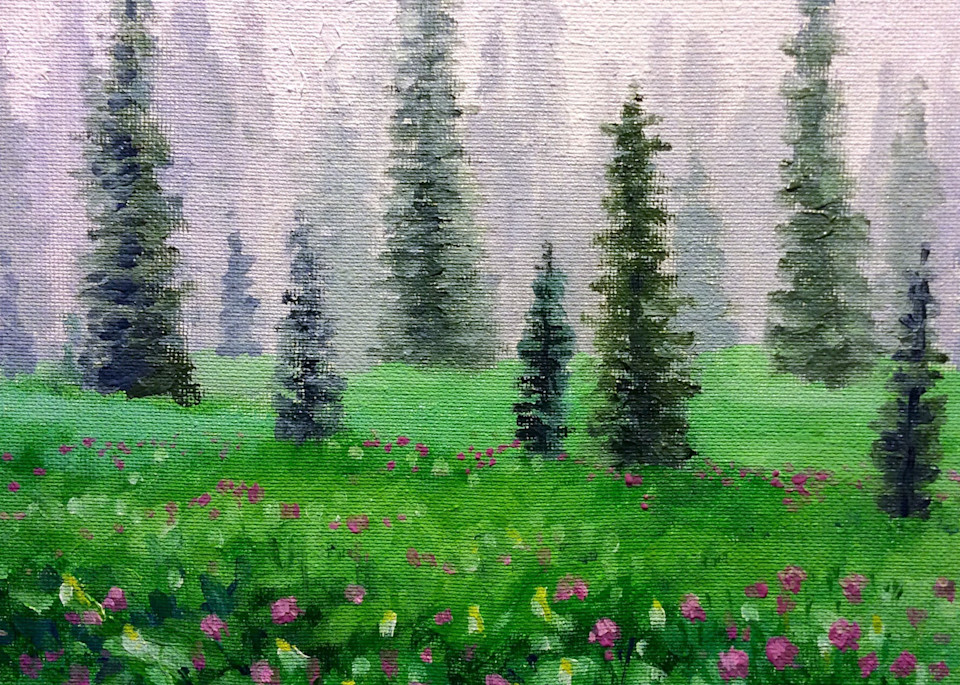 Soft rain low mountain fine art print by Hilary J. England
