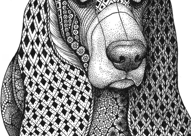"Bassett Hound Art | Kristin Moger ""Seriously Fun Art"""