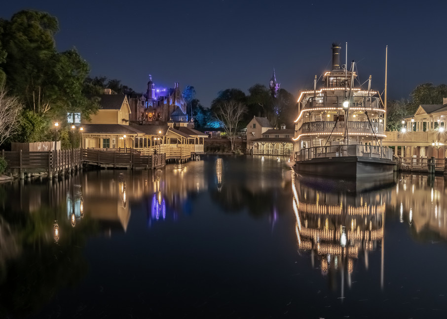 Rivers of America Reflections - Disney Artwork for Sale | William Drew
