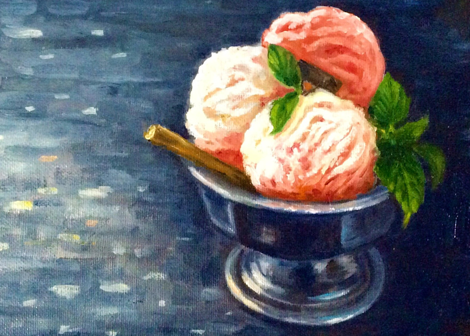 Sorbet with Mint Leaves Fine Art Open Edition Print