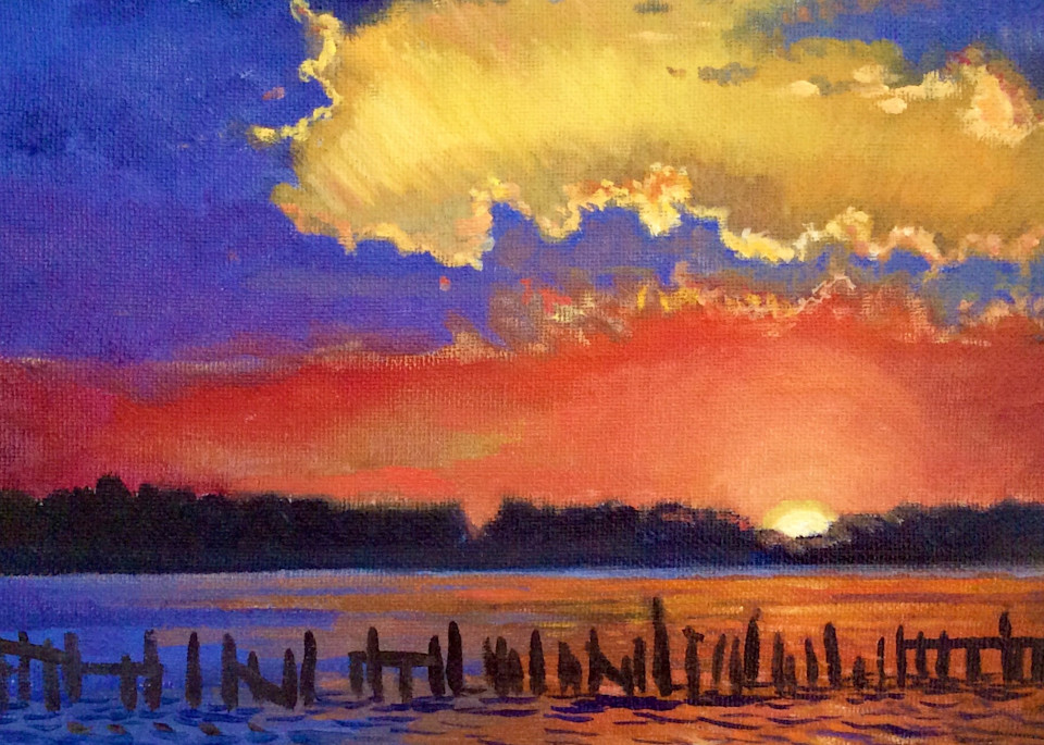 Twilight Over the Bay Fine Art Print by Hilary J. England