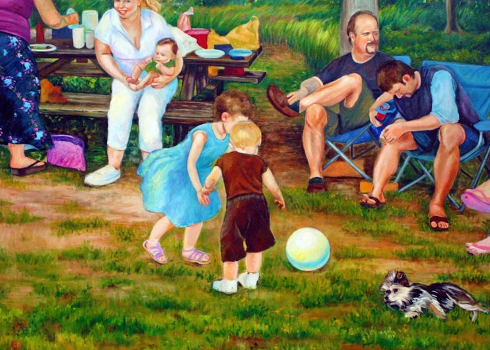 Summer Picnic in Pennsylvania Fine Art Open Edition Print